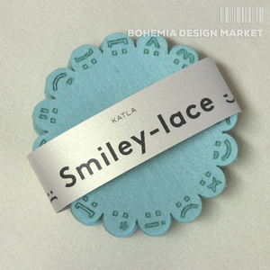 Smiley-lace coasters MINT