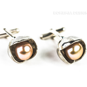 Ladies Cufflinks Bowpearls