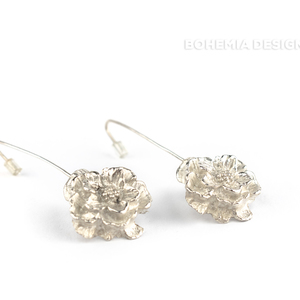 Pendant earrings Pulsatilla