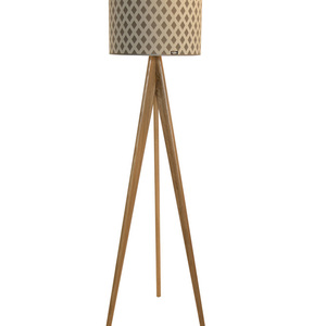 Wooden floor lamp Lusito Tripod Queen of Diamods - oak