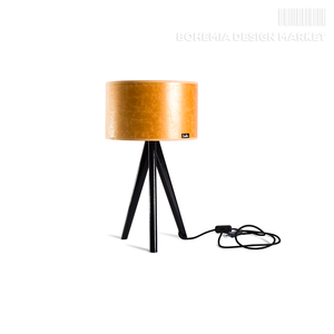 Table lamp Lusito Tripod mini Luxury Gold oak black