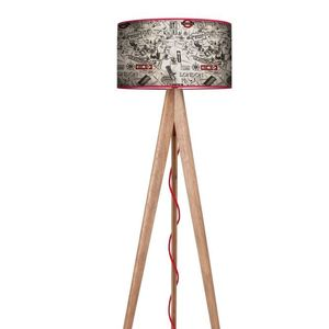 Wooden floor lamp London Tripod