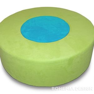 Donut Pouf lime/turquoise