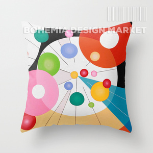 COLORFUL THROW PILLOW COVER - paralel relationships