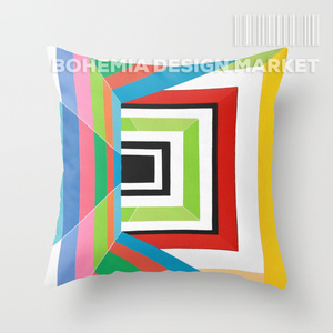 COLORFUL THROW PILLOW COVER - lost