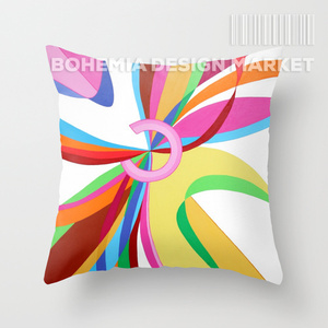 COLORFUL THROW PILLOW COVER - meet cute