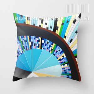 COLORFUL THROW PILLOW COVER - stairs to heaven