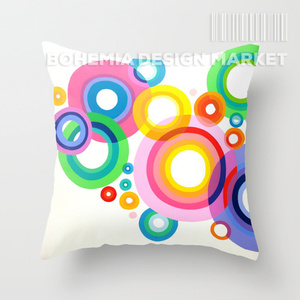 COLORFUL THROW PILLOW COVER - bubbles