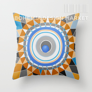 COLORFUL THROW PILLOW COVER - SUN