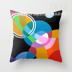 COLORFUL THROW PILLOW COVER - STRING OF BEADS