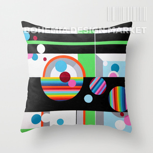COLORFUL THROW PILLOW COVER - CHAT