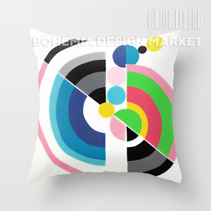 COLORFUL THROW PILLOW COVER - RELOADED