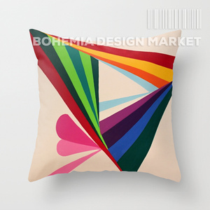 COLORFUL THROW PILLOW COVER - CHRISTMAS TIME