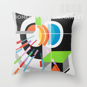 COLORFUL THROW PILLOW COVER - SPRING