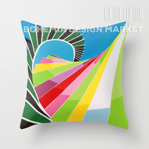 COLORFUL THROW PILLOW COVER - WAY OF THE GREEN