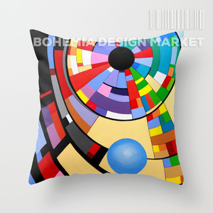 COLORFUL THROW PILLOW COVER - SPIRAL