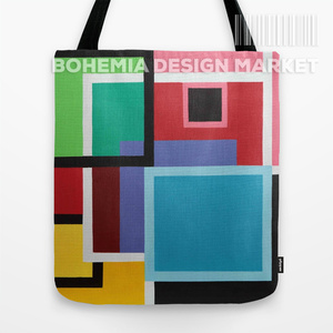 ORGINAL TOTE BAG - TOUCHES OF SQUARES