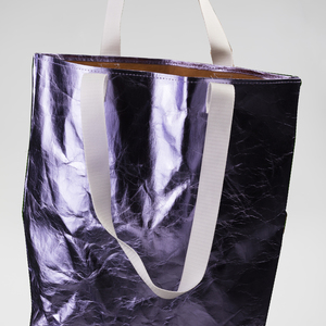 Bag metallic purple